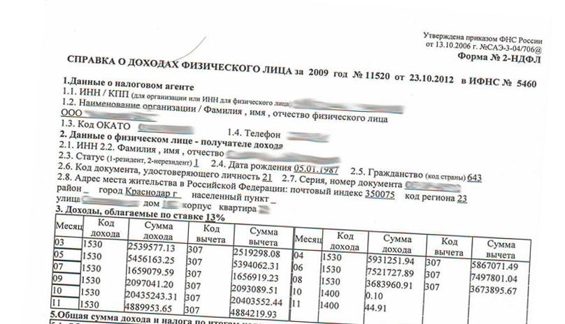 Купить справку 2 НДФЛ для налогового вычета в Москве недорого
