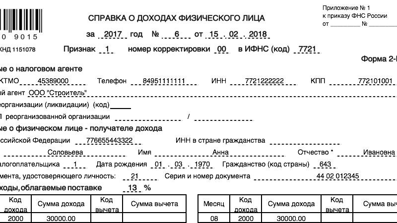 Оформим справку 2 ндфл безработному в Москве недорого